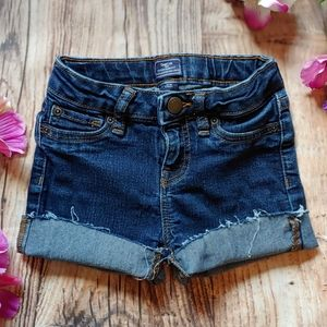 Little girls GAP cutoff jean shorts 6